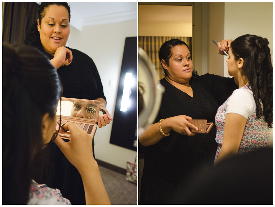 Crown Plaza Suffern-Mahwah Hotel | Wedding Make-up Shot by Lara Photography